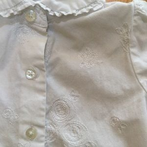 The Children's Place Shirts & Tops - Children's Place Embroidered Blouse White 24M